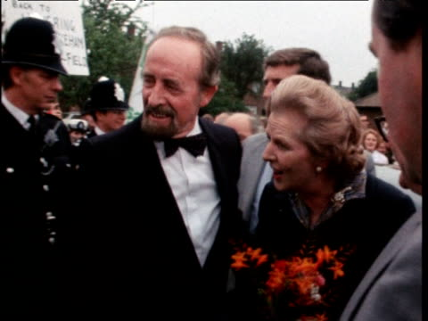 prime minister margaret thatcher presents deeds of 12 000th council house sold by greater london council to new owners essex 11 aug 80 - council stock videos and b-roll footage
