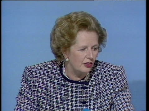 prime minister margaret thatcher states that she regards private medical insurance as - margaret thatcher stock videos & royalty-free footage