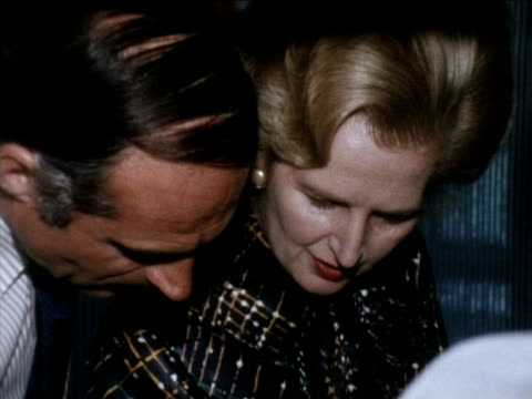 Prime Minister Margaret Thatcher visits the immigration department of the British High Commission India Sep 76