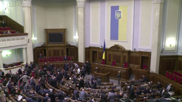 stockvideo's en b-roll-footage met prime minister mykola azarov resigned on tuesday in a bid to defuse ukraine's deadly crisis and preserve its unity finally giving into months of... - bod