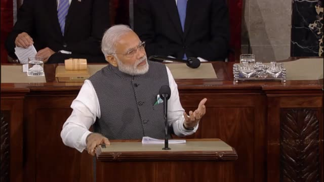 Prime Minister of India Narendra Modi meaning of the United States Congress that soldiers from his nation and sacrificed for up the threads of...
