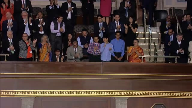 Prime Minister of India Narendra Modi tells a joint meeting of the United States Congress that three million Indian Americans are among its best...