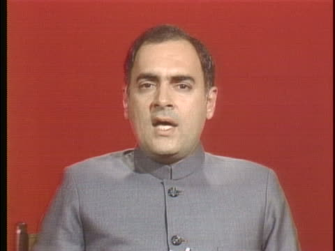prime minister of india rajiv gandhi discuses pakistan's nuclear experiments as you know they have fairliy substancial facility for the purificaton... - healthcare and medicine or illness or food and drink or fitness or exercise or wellbeing stock videos & royalty-free footage