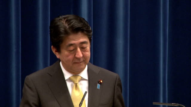 vidéos et rushes de prime minister shinzo abe made the announcement at the news conference to mark the end of the 245day extended diet session the longest in postwar... - critique