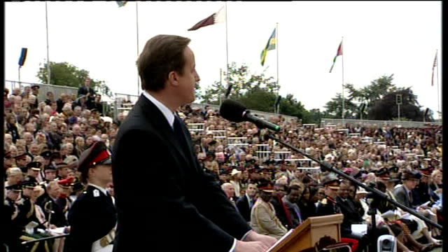 prime minister speech at sovereign's parade sandhurst david cameron mp speech sot many have passed out of here and risen to great prominence... - human back stock videos & royalty-free footage