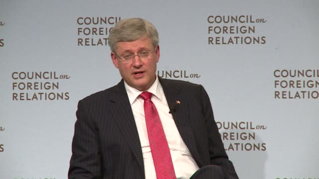 Prime Minister Stephen Harper was in New York Thursday promoting the Keystone XL pipeline the $53 billion project that would move oil from the...