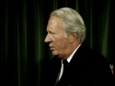 prime minister ted heath interview on middle east crisis / agreed to a meeting of the security council but haven't been able to bring it about as not... - 1973 stock videos & royalty-free footage