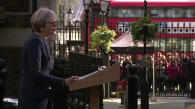 prime minister theresa may calls general election prime minister theresa may calls general election england london downing street ext prime minister... - 2020 business stock videos and b-roll footage