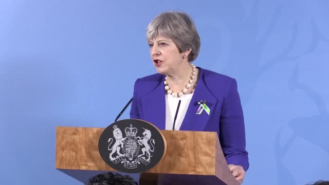 Prime Minister Theresa May gives a speech in Manchester on democracy in public life She discusses open democracy being under threat as debate...