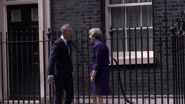 Prime Minister Theresa May meets with NATO secretary general Jens Stoltenberg at 10 Downing Street
