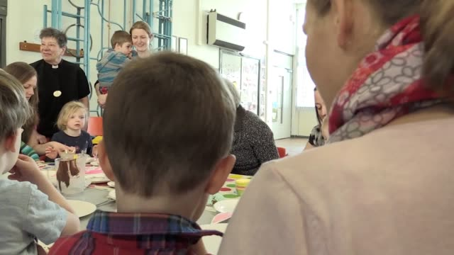 Prime Minister Theresa May visits a parent and toddler group at St Andrew's HeddonontheWall CofE Primary School Newcastle The Prime Minister will...