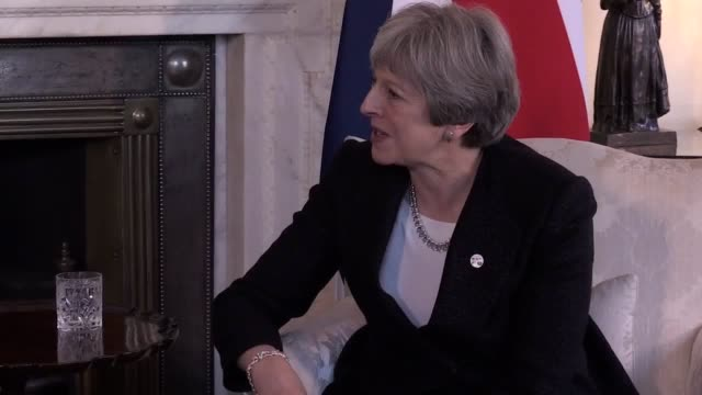 Prime Minister Theresa May welcomes the Prime Minister of Estonia Juri Ratas to Downing Street in London