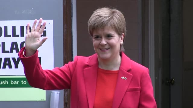 prime minister theresa may's possible replacement by a hard brexiteer would highlight the benefit of scotland being an independent country scotland... - nicola sturgeon stock videos & royalty-free footage