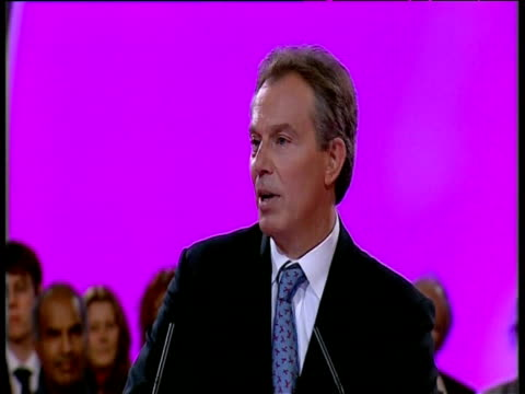 prime minister tony blair acknowledges at labour party conference that evidence proving saddam hussein having weapons of mass destruction was... - weapons of mass destruction stock videos & royalty-free footage
