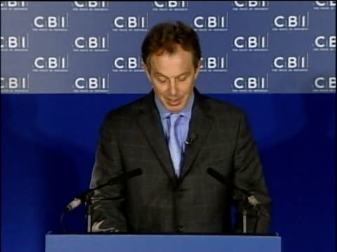prime minister tony blair talks at press conference about immigration and - emigration and immigration stock videos & royalty-free footage