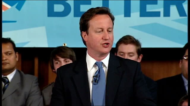 cameron speech on av england greater manchester sale int david cameron mp introduced sot david cameron speech sot thank you it is great to be here in... - greater london stock videos and b-roll footage