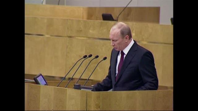 prime minister vladimir putin warned against western economic and military influence as he addressed lawmakers wednesday amid a flurry of rumours... - governmental occupation stock videos & royalty-free footage