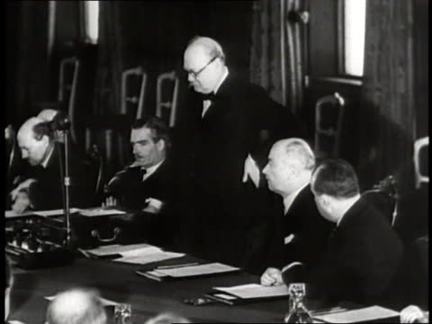 prime minister winston churchill speaks at a meeting of officials - speech stock videos & royalty-free footage