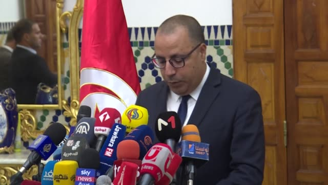 prime ministerdesignate hichem mechichi announces that he wants the tunisian government to be made up of technocrats thus rejecting the call of the... - carthage tunisia stock videos & royalty-free footage