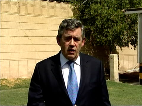 prime minster gordon brown arrival, press conference and answering questions from journalists; - so what we propose to do over these next few months... - 30 seconds or greater stock-videos und b-roll-filmmaterial