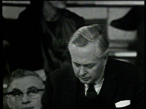 prime minster harold wilson giving 'ordained by providence' speech around the time of the 1964 general election - harold wilson stock-videos und b-roll-filmmaterial