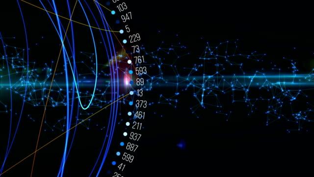 vídeos y material grabado en eventos de stock de los números primos - geometría
