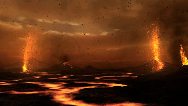 primordial earth - volcano stock videos & royalty-free footage