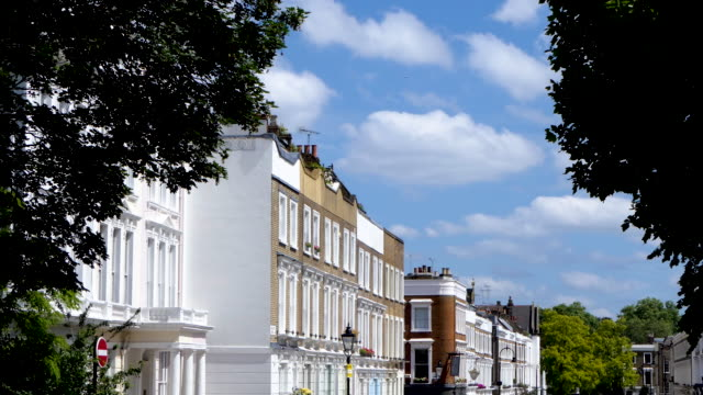primrose hill colorful victorian london homes time lapse with clouds moving time lapse - victorian stock videos & royalty-free footage