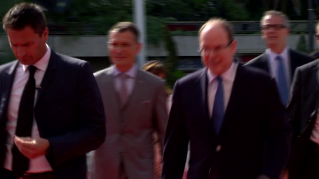 prince albert at 54th montecarlo television festival day 2 on june 08 2014 in montecarlo monaco - day 2 stock videos & royalty-free footage