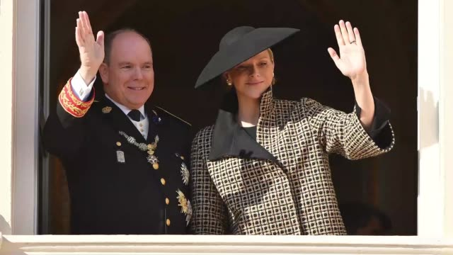 prince albert ii and princess charlene of monaco attend monaco national day celebrations on november 19 2018 in monaco monaco - monaco stock videos and b-roll footage