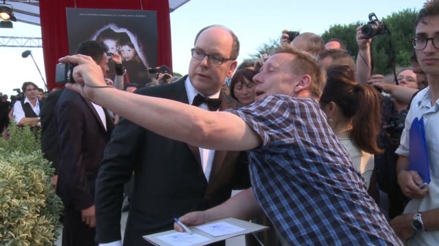 prince albert ii of monaco at the 55th monte carlo tv festival day 4 on june 18 2015 in montecarlo monaco - monaco royalty stock videos and b-roll footage