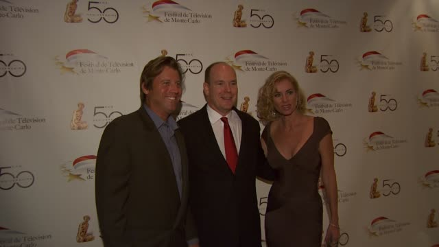 hsh prince albert ii of monaco at the monte carlo television festival cocktail party at beverly hills ca - königshaus von monaco stock-videos und b-roll-filmmaterial