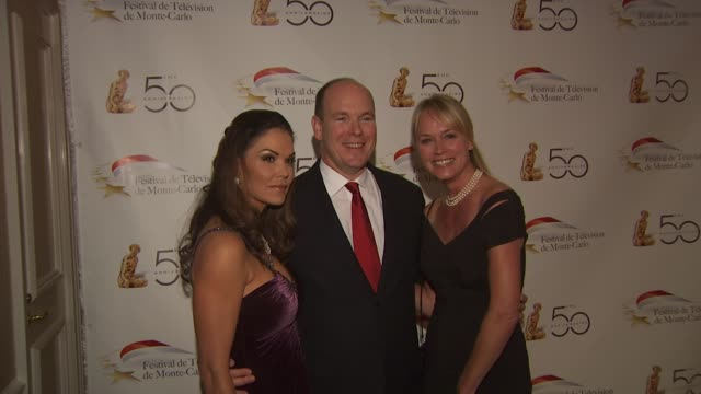 hsh prince albert ii of monaco at the monte carlo television festival cocktail party at beverly hills ca - monaco royalty stock videos and b-roll footage