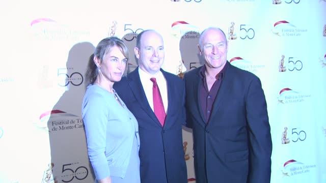 hsh prince albert ii of monaco corbin bernsen at the monte carlo television festival cocktail party at beverly hills ca - monaco royalty stock videos & royalty-free footage