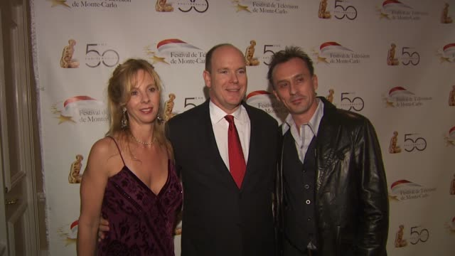 hsh prince albert ii of monaco robert knepper at the monte carlo television festival cocktail party at beverly hills ca - monaco royalty stock videos & royalty-free footage