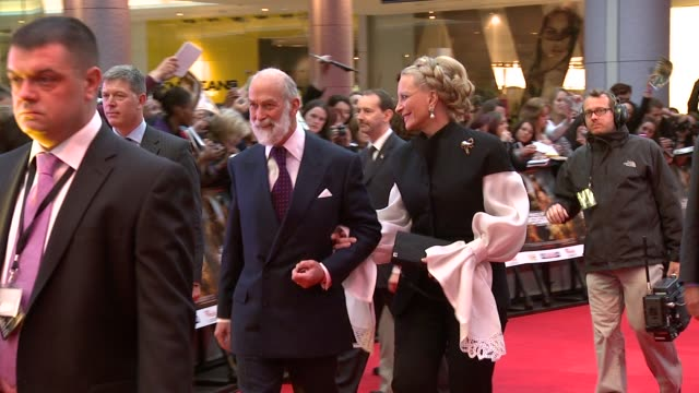 prince and princess michael of kent at the prince of persia premiere uk at london england - princess michael of kent stock videos and b-roll footage