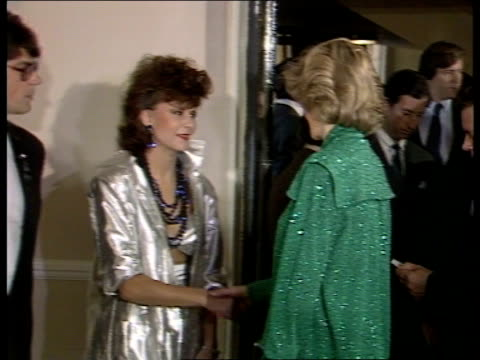 prince and princess of wales attend gala rock concert prince and princess of wales attend gala rock concert england london royal albert hall ms... - 1984 stock-videos und b-roll-filmmaterial