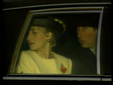 Divorce TX 21192 Prince and Princess of Wales standing Seoul with others on arrival for visit CMS Prince and Princess seen in car TX 271091 CANADA...