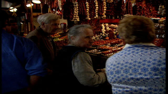 prince and princess of wales hungary visit day 2 budapest market hungary budapest central market hall int various shots of stalls in covered market... - spice stock videos & royalty-free footage