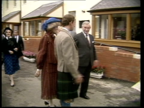 prince and princess of wales in scotland prince and princess of wales in scotland scotland glasgow erskine hospital ms prince charles in kilt and... - glasgow scotland stock videos & royalty-free footage