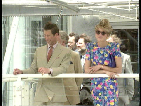 prince and princess of wales marriage / row over press intrusion; nat: tx 21.5.92 itn spain seq prince and princess of wales together on foreign trip - disrespect stock videos & royalty-free footage