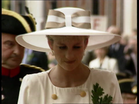 Prince and Princess of Wales marriage rumours CF Diana Princess of Wales along shaking Chelsea Pensioners