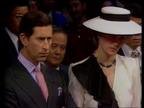 prince and princess of wales marriage rumours date f'backs diana princess of wales with prince charles at functions - gossip stock videos & royalty-free footage