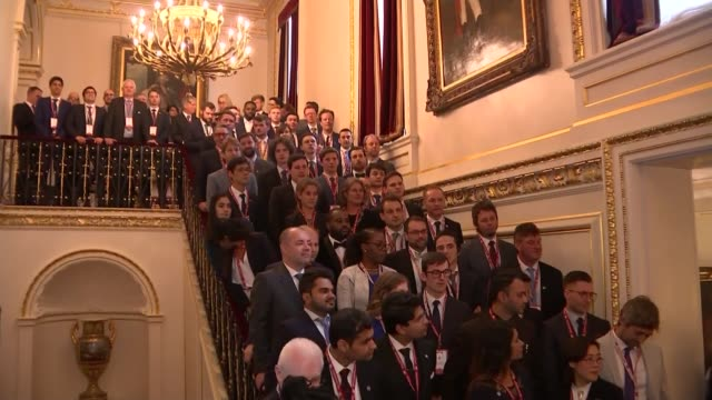 prince andrew hosts 'pitch@palace' business event for entrepreneurs; england: london: st james' palace: int **some flash photography** various shots... - palace stock videos & royalty-free footage