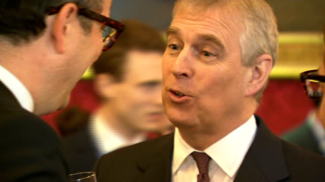 prince andrew hosts pitch@palace event at st james's palace; england: london: st james's palace: int **beware flash photography** various shots of... - palace stock-videos und b-roll-filmmaterial