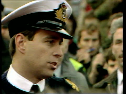 prince andrew talks to press about lockerbie air disaster 22 dec 88 - prince andrew stock videos & royalty-free footage