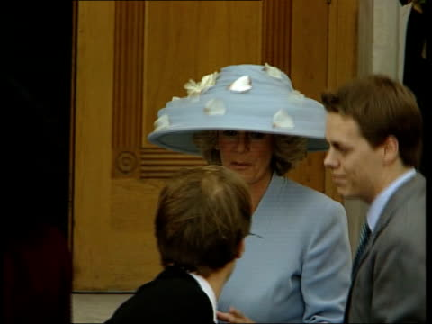 50th birthday party/society wedding been nicholas england london prince charles arriving with others for wedding of santa palmertomkinson and simon... - camilla duchess of cornwall stock videos and b-roll footage