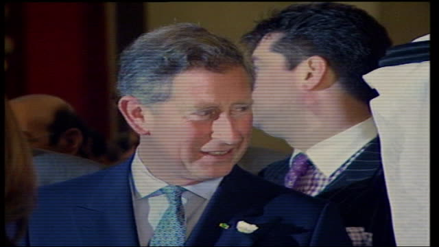 prince charles allegations/queens party lib int prince charles with aide michael fawcett accused of selling off unwanted gifts behind - michael fawcett stock videos and b-roll footage
