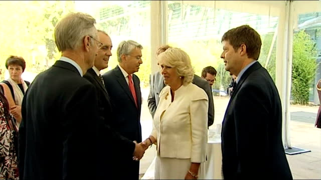 prince charles and camilla attend 2004 tsunami memorial inauguration ceremony england london natural history museum ext prince charles prince of... - memorial event stock videos and b-roll footage