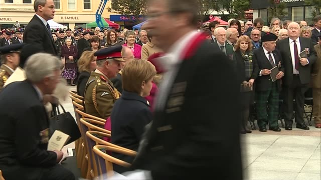 WWI Prince Charles and Camilla attend Battle of Loos 100th anniversary service Prince Charles and Camilla arrival at Caird Hall service / couple...